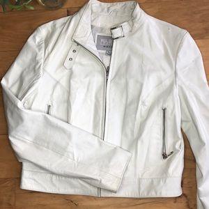 Wilson's Leather Maxima White Leather Jacket
